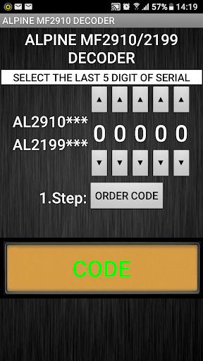 MF2910 Radio Code Decoder 1.0f Screenshots 1