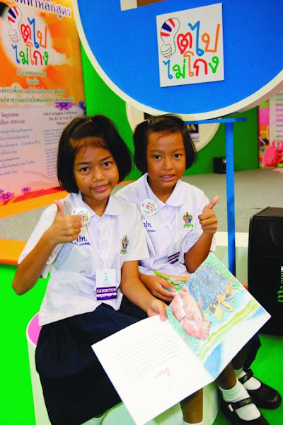 Photo: Two young participants from our Growing Good initiative in Thailand, which teaches children how to be honest, responsible and fair. © Transparency Thailand