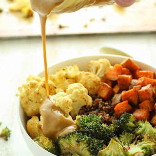 Sweet Potato and Cauliflower Quinoa Bowls
