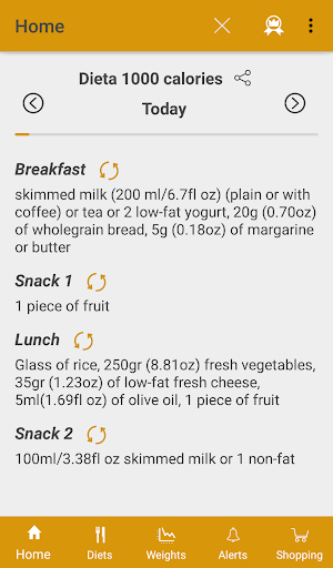Diets for losing weight screenshot 1