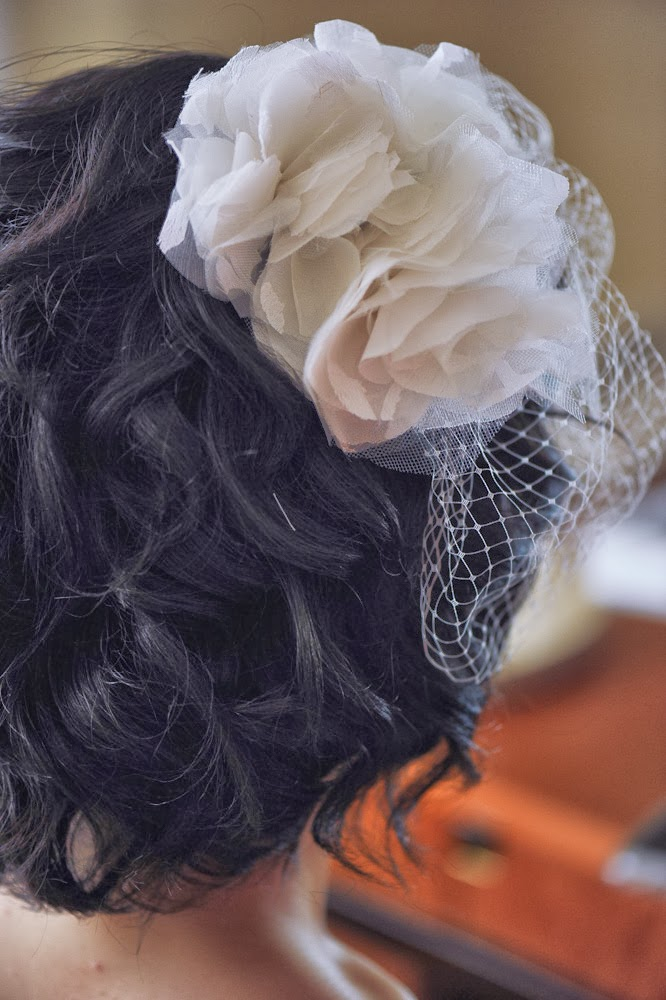Result: DIY Wedding Birdcage Veil with Flowers - DIY Fashion Accessories | fafafoom.com