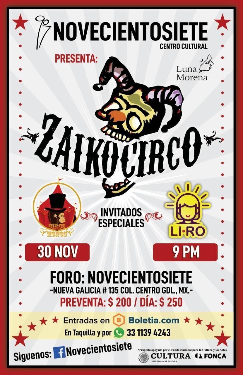 Inauguración Centro Cultural Novecientosiete con Zaikocirco