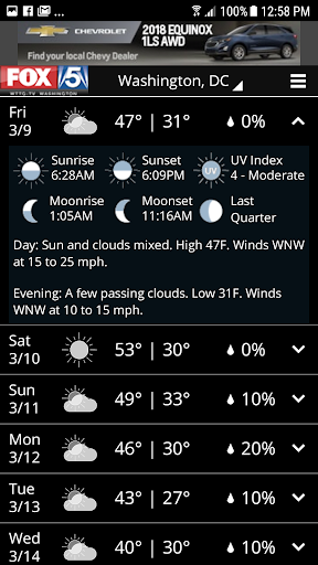 FOX 5 Weather Screenshot