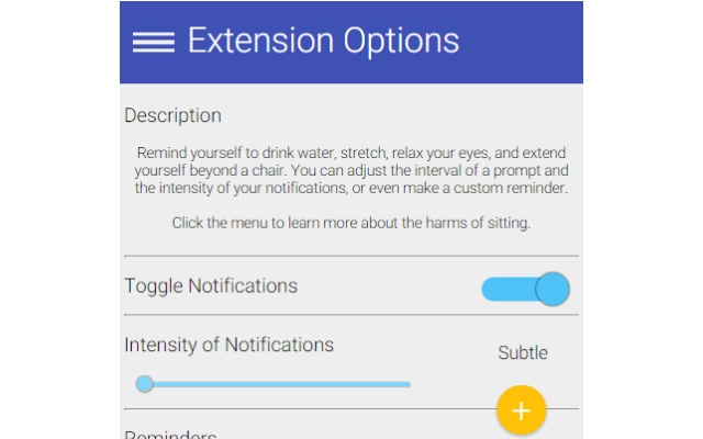 Anti-Sedentary Desktop Reminder