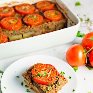 Potato Lentil Tomato Bake.