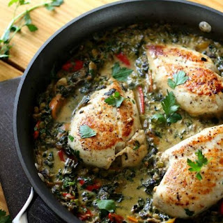 Smothered Creamy Chicken Skillet.
