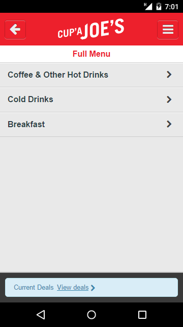 Cup'a Joe's Gourmet Coffee- screenshot