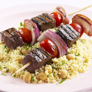 Lamb Kebabs with Herb Couscous.