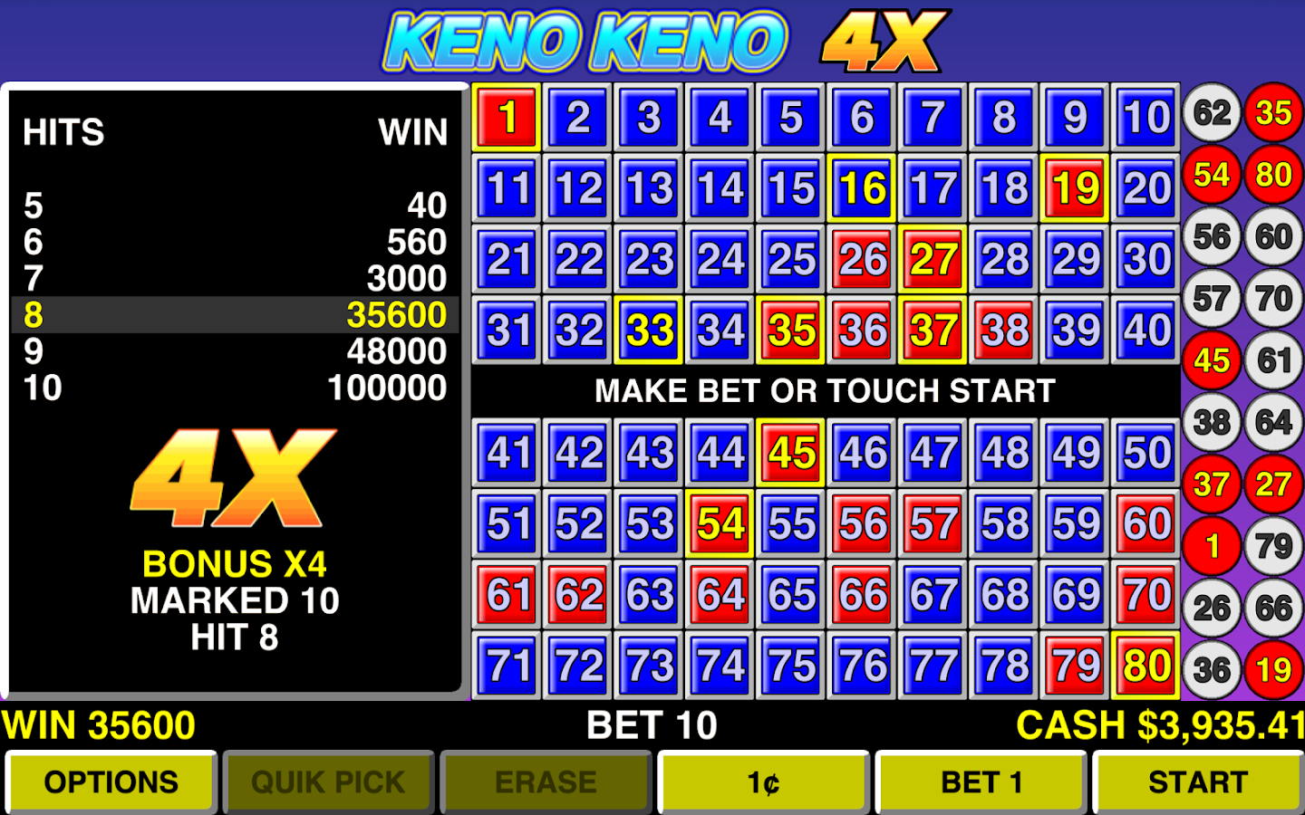 best keno games in las vegas