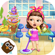 Free Download Sweet Baby Girl Cleanup 6 - Cleaning Fun at School APK for Samsung