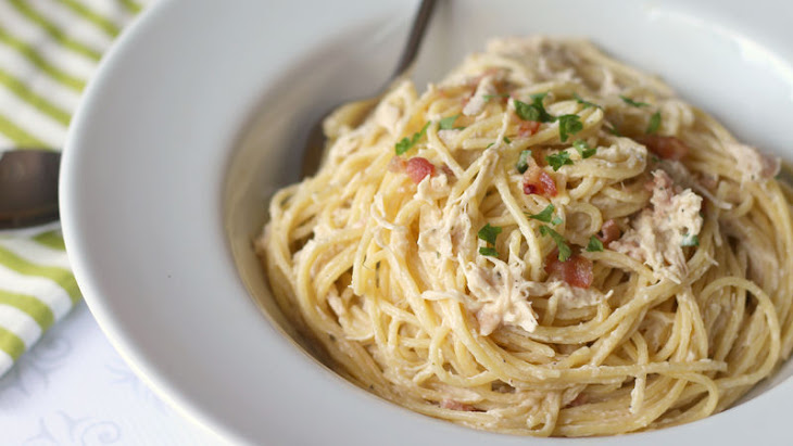Slow-Cooker Bacon-Ranch Chicken and Pasta Recipe