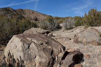 "Photo: ""Suntanned"" basalt boulders left from ancient volcanic eruptions."
