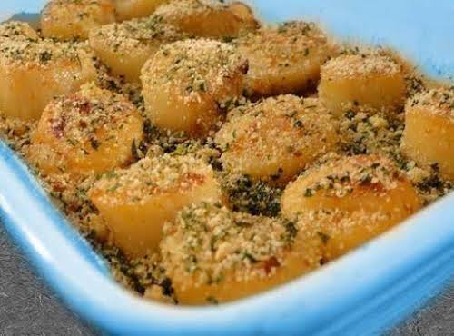 "Baked Sea Scallops ""Excellent recipe. These were so delicious and restaurant quality..."