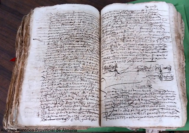 Soldada de Juana de 1573, imagen del Archivo Histórico Provincial de Almería.