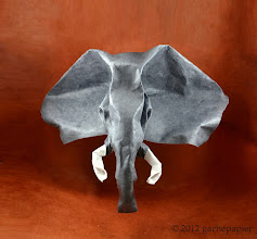 Photo: African Elephant - lokta on water colour paper, 94cm x 68cm