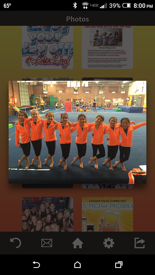 Golden State Gymnastics- screenshot