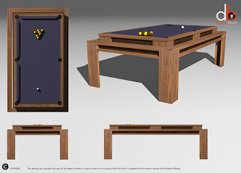 3D Drawing of Lingfield Pool Table