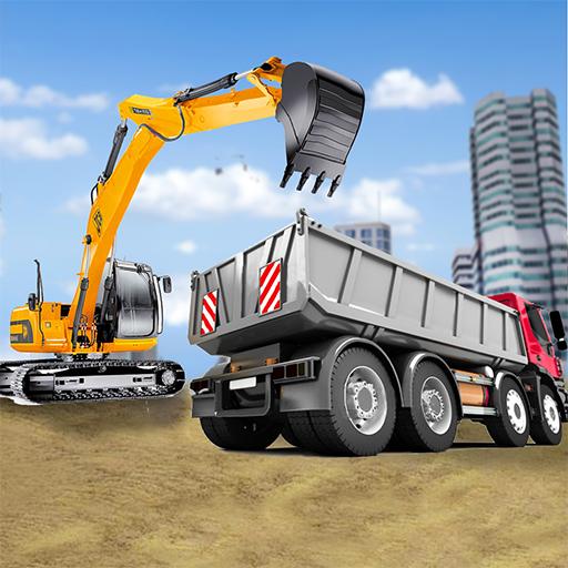 cidade construção simulador: empilhadeira caminhão