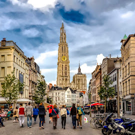 Antwerp by Pravine Chester - City,  Street & Park  Historic Districts ( places, historic district, street, antwerp, building, architecture, vistas )