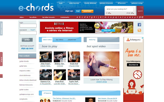 E Chords Chrome Web Store