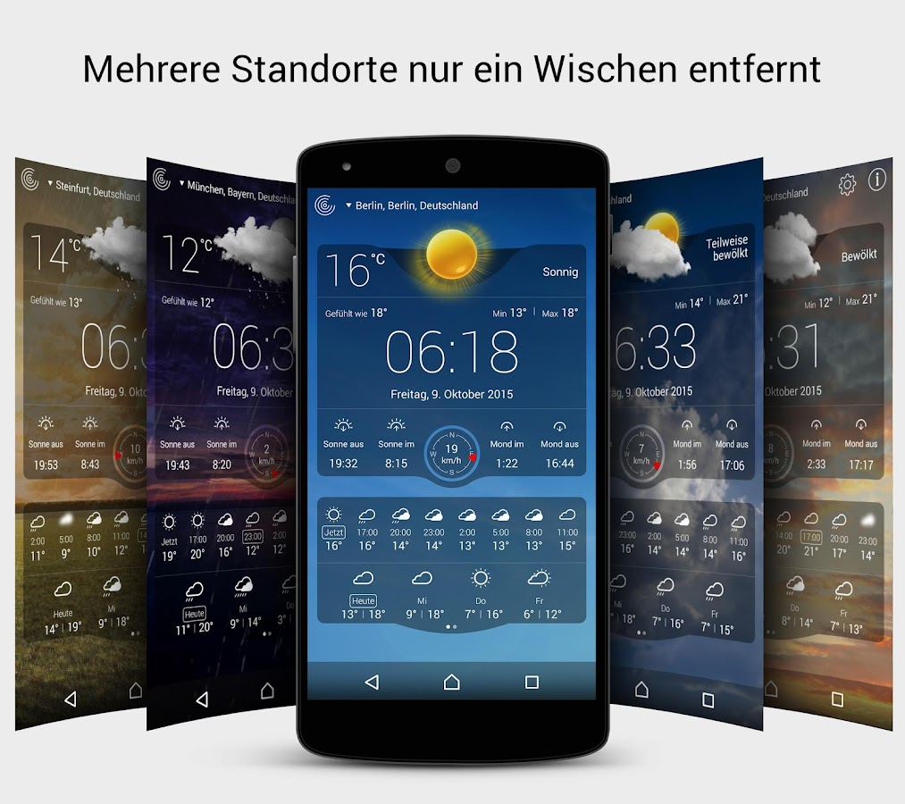 wetter live kostenlos android apps auf google play. Black Bedroom Furniture Sets. Home Design Ideas