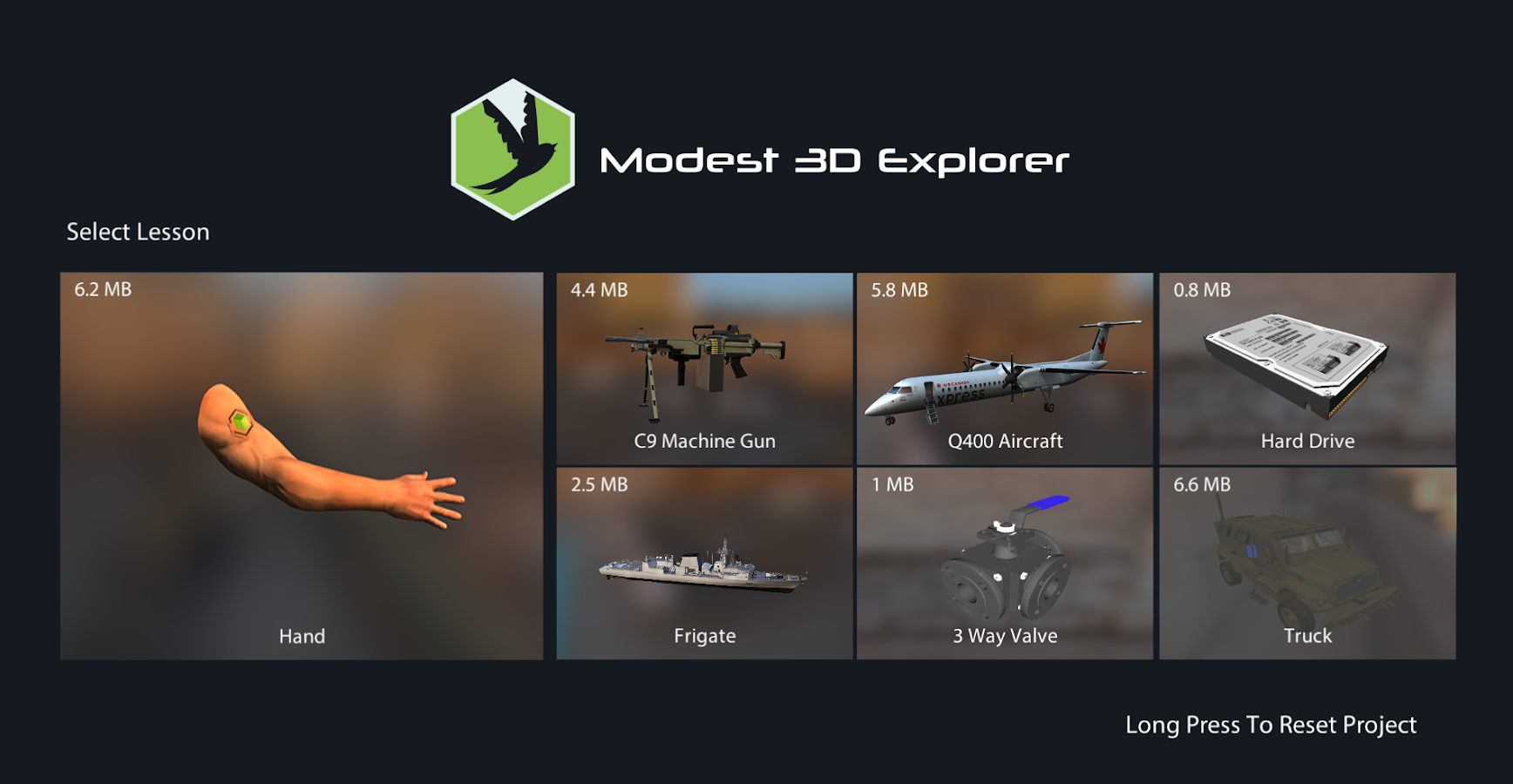 Modest3D Explorer- screenshot