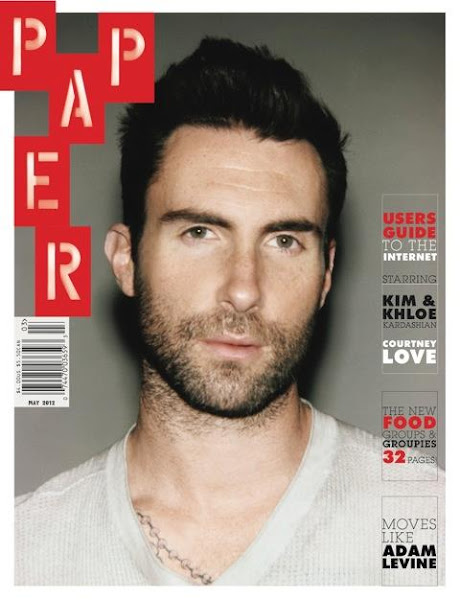 Photo: Adam is on the cover of the May issue of Paper Magazine. Check out the cover below and read the article here: http://bit.ly/IjIZIq