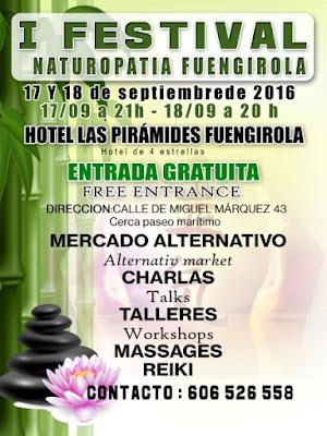 I Festival Naturopatia Fuengirola en Hotel Las Pirámides