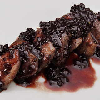 Tenderloin of Venison with Blackberry Sauce