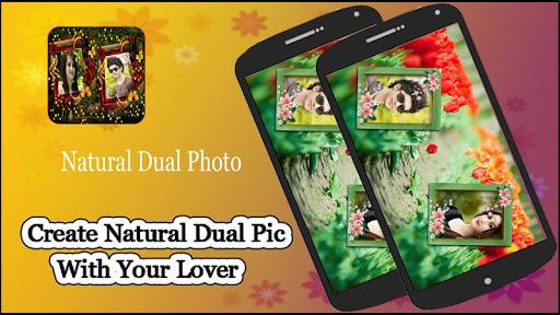 Natural Dual Photo Frame
