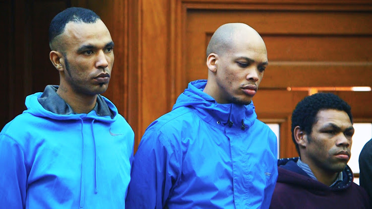 Vernon Witbooi, Geraldo Parsons and Eben van Niekerk were found guilty by Judge Rosheni Allie on November 7 2018 in the Cape Town High Court.