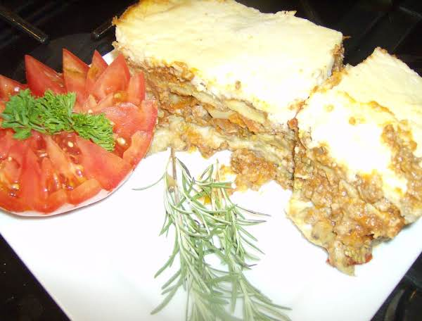 Lady Rose's Southern Style Moussaka Ready To Serve For Dinner.