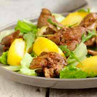 Warm Liver and Apple Salad.
