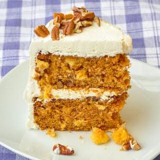 Pineapple Pecan Carrot Cake with Vanilla Buttercream Frosting Recipe