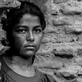 Sadness  by Iqbal Kabir - Black & White Portraits & People