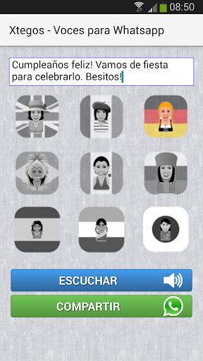 Xtegos - Voces para Whatsapp