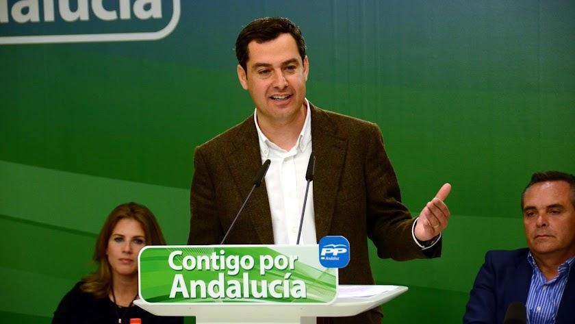 Imagen de archivo de Juanma Moreno, candidato a la presidencia de la Junta de Andalucía.