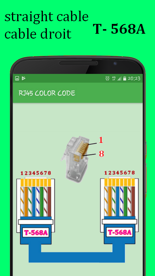 rj45 color code cable wiring