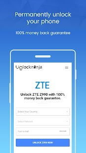 Unlock ZTE Phone - Unlockninja.com - náhled