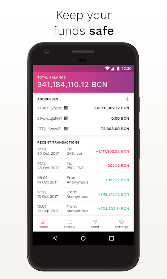Bytecoin Wallet- screenshot
