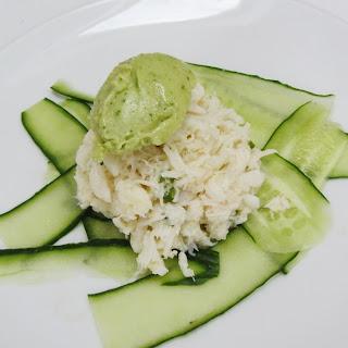 Crab Salad with Avocado Sorbet