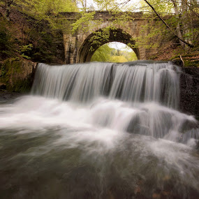 ancient roman bridge by Naiden Bochev - Buildings & Architecture Bridges & Suspended Structures ( water, ancient, waterscape, rome, waterfall, romania, river, bulgaria )