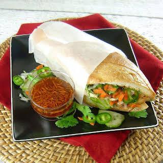 Lemongrass Chicken Banh Mi Sandwiches.