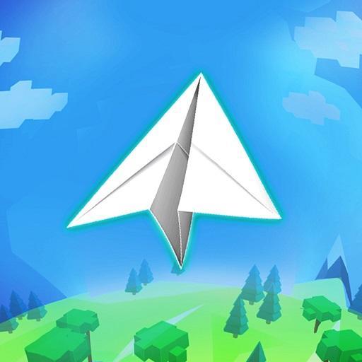 Paper Plane Planet Icon