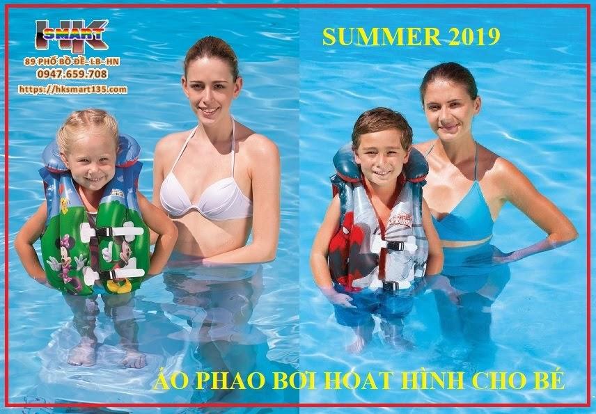 Áo phao bơi hoạt hình cho bé