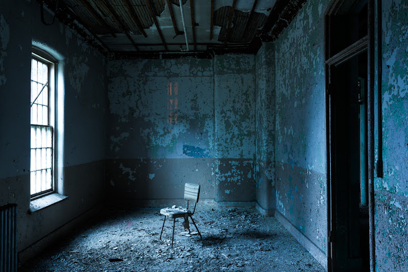 Photo: Lonely chair, Willard State Hospital.