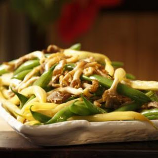 Green & Yellow Beans with Wild Mushrooms.