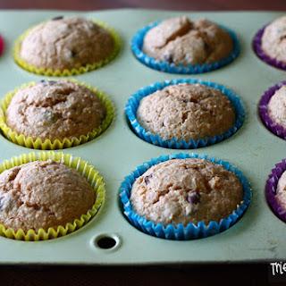 Healthier Peanut Butter & Carob Chip Muffins