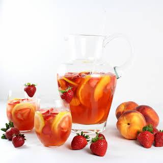 Strawberry Peach Rosé Sangria.