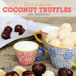 Brazilian Coconut Truffles (aka Beijinhos)